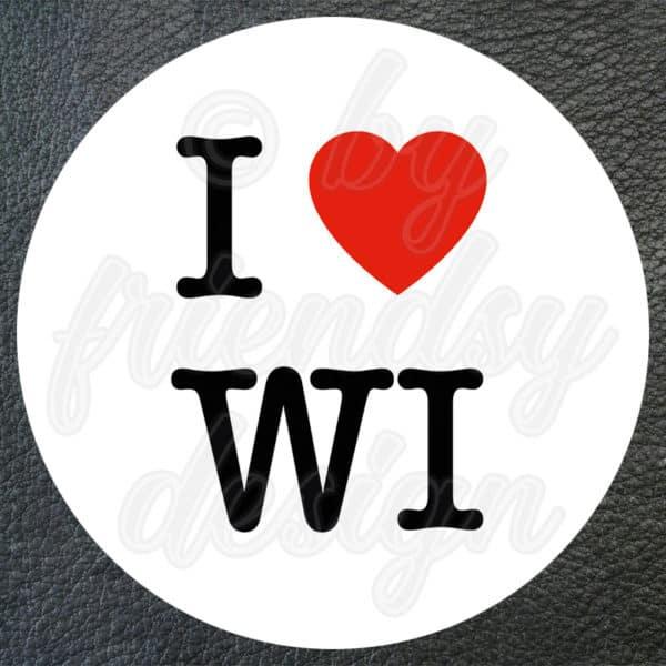 """Aufkleber """"I Love WI"""" (Wiesbaden) 1"""