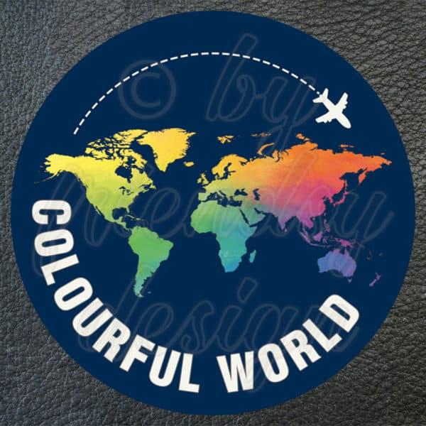 "Aufkleber ""Colourful World"" 1"