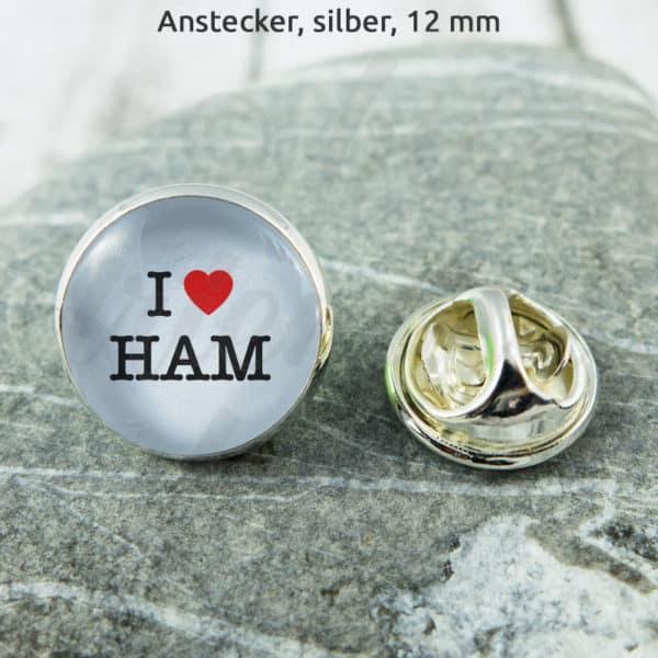 Anstecker I Love HAM