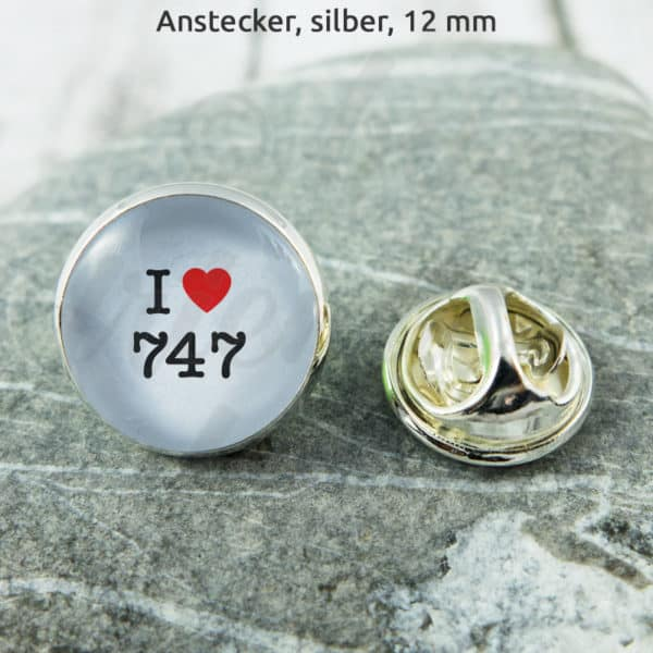 Anstecker I Love 747