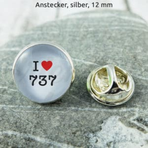 Anstecker I Love 737