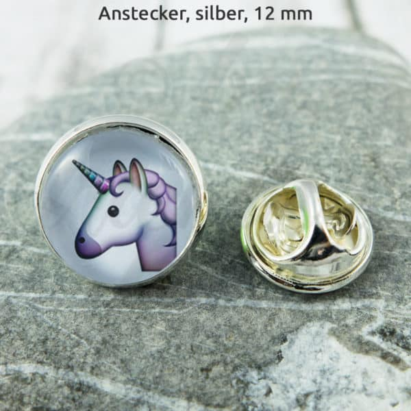 Anstecker Unicorn on white