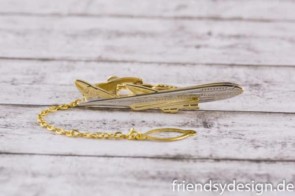 Krawattenklammer Flugzeug Langstrecke 2