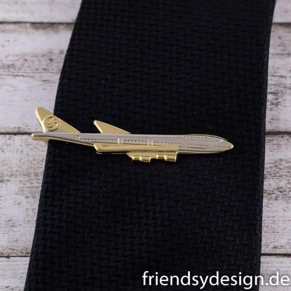 Krawattenklammer Flugzeug Langstrecke 1
