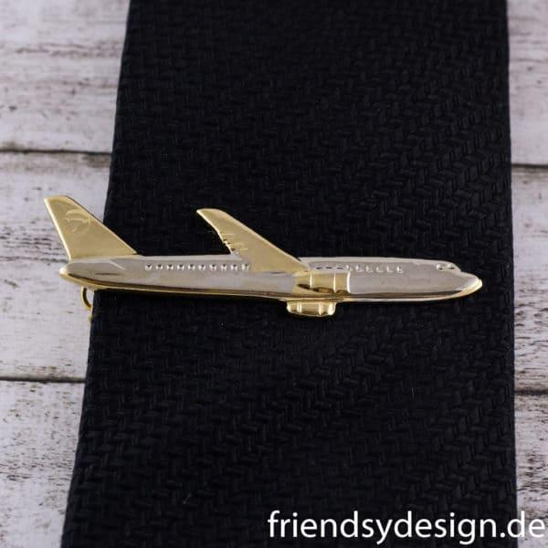 Krawattenklammer Flugzeug Kurzstrecke 1