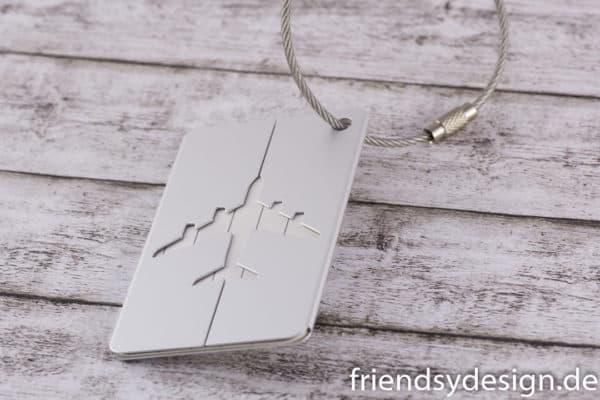 Gepäckanhänger Flieger Silber