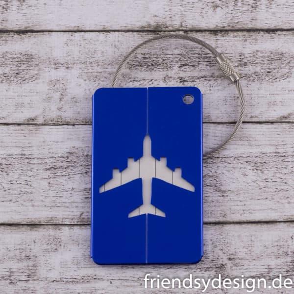 Gepäckanhänger Flieger Blau
