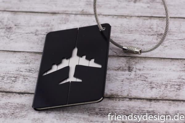 Gepäckanhänger Flieger Schwarz