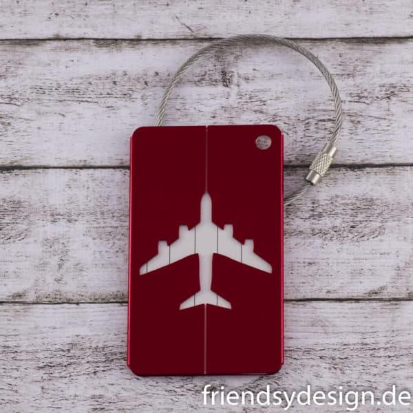 Gepäckanhänger Flieger Rot 1