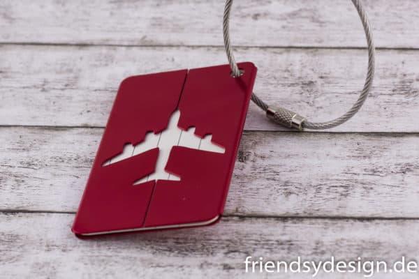 Gepäckanhänger Flieger Rot 2