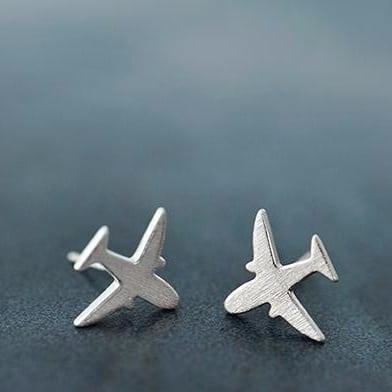 Ohrstecker Flugzeug 925er Sterling Silber 1