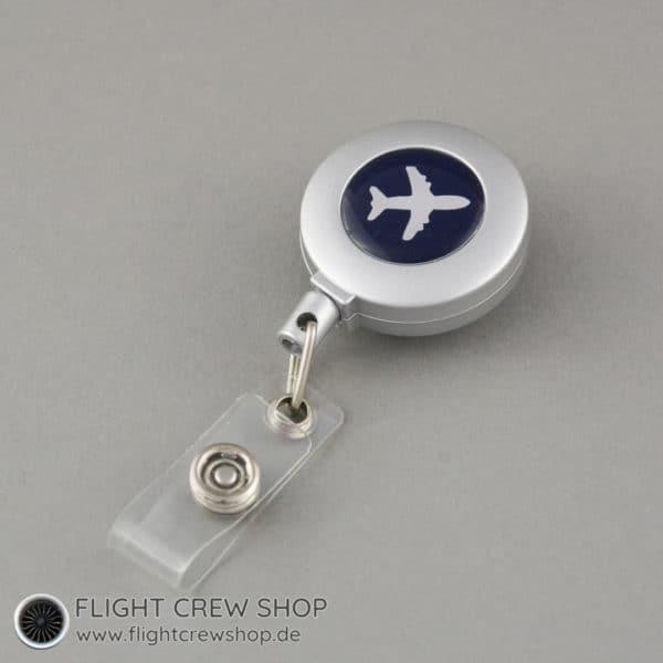 Ausweis-Spule Flieger silber (Variante A) 1