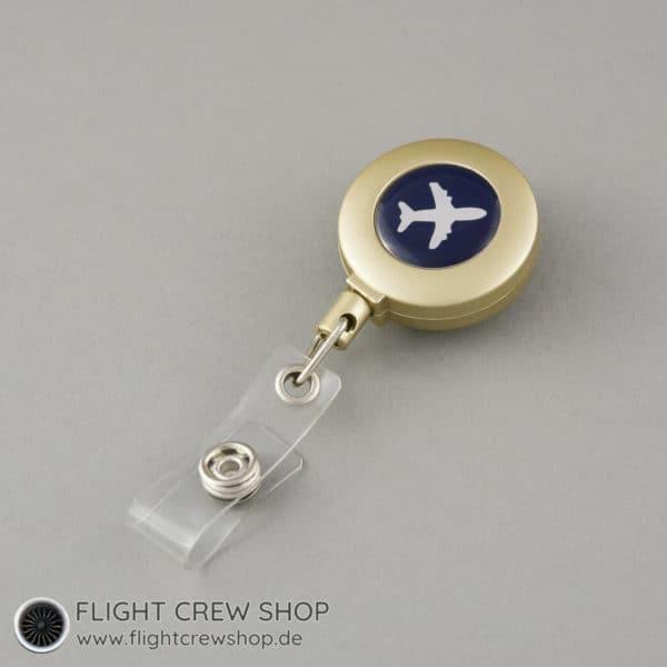 Ausweis-Spule Flieger gold (Variante A) 1
