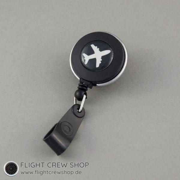 Ausweis-Spule Flieger schwarz (Variante B) 1
