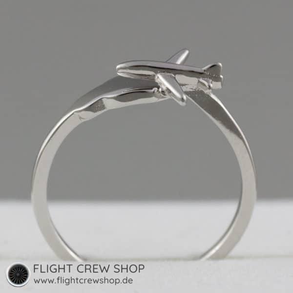 Ring Flugzeug 925er Sterling Silber 2